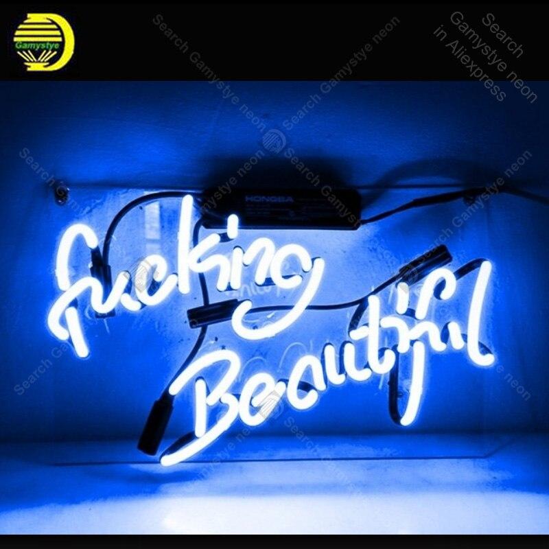 Enseigne au néon uck belle enseigne au néon véritable Tube de verre émotion accueil affichage néon ampoule enseigne éclairé décor chambre néon lumière vente