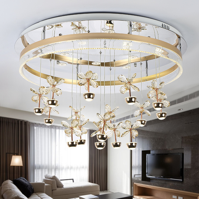 Bedroom Lights Simple Modern Circular Atmosphere Creative Bubble Column Crystal Lamp Dining Room Living