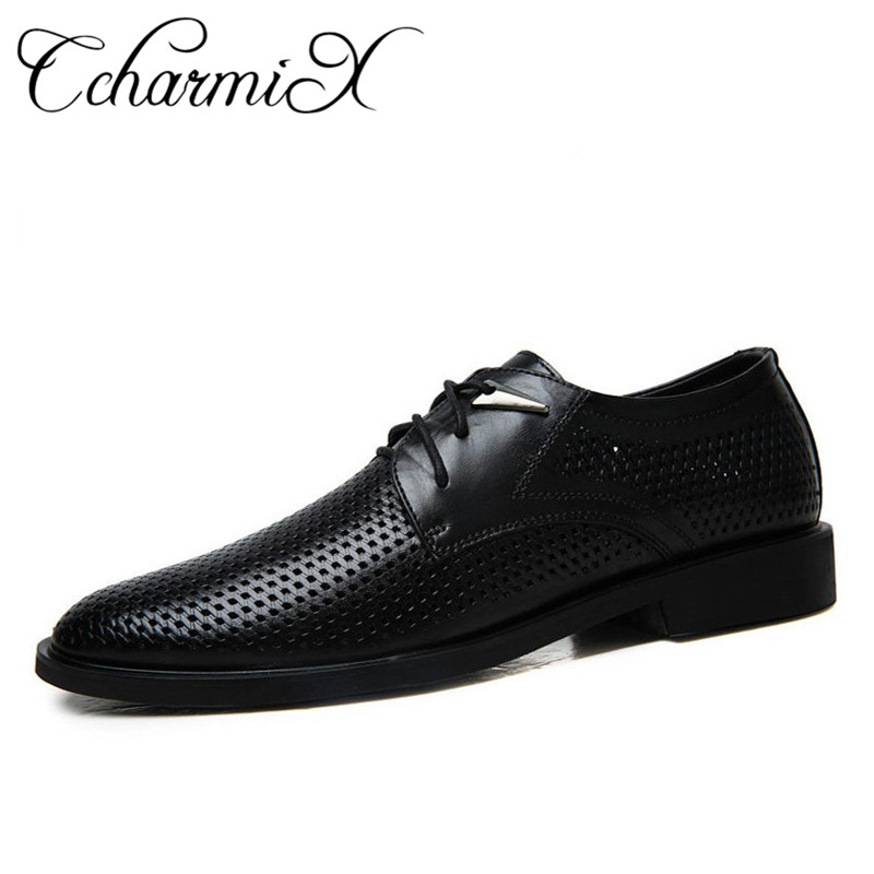 a1c23482cb8 CcharmiX Genuine Leather Black Luxury Wedding Male Oxfords Office Italian  Designer Formal Mens Dress Shoe Business