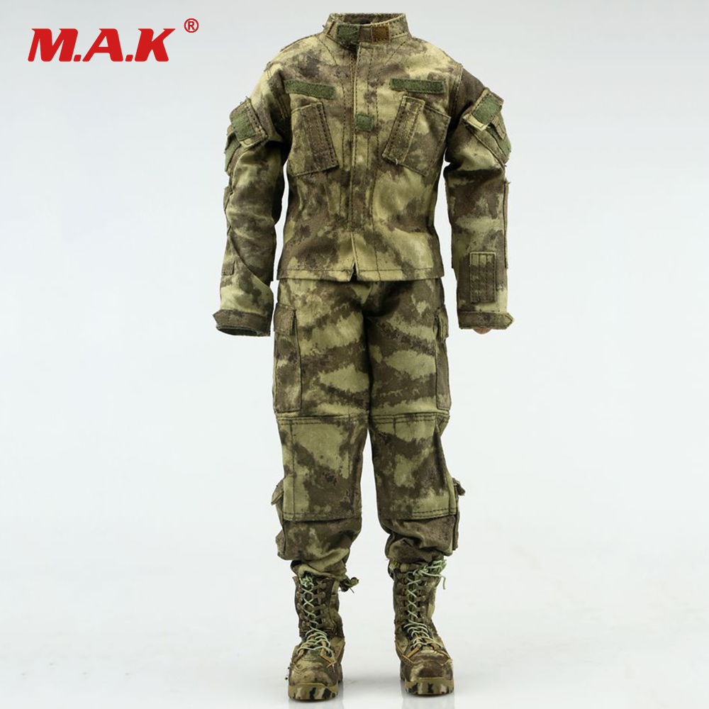 1/6 Scale Male Soldier Ruins Camouflage Combat Clothes Uniform for 12 inches Action Figure 1 6 scale 12 inches male clothes