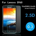 S960 moda a prueba de explosiones prima templado protector de pantalla de cristal para lenovo vibe x s968t s968t s960 protector de la película protectora