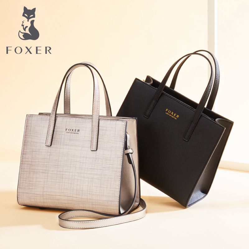 FOXER Women's Bag Shoulder-Bags New-Design Fashion Cowhide Female All-Match Brand