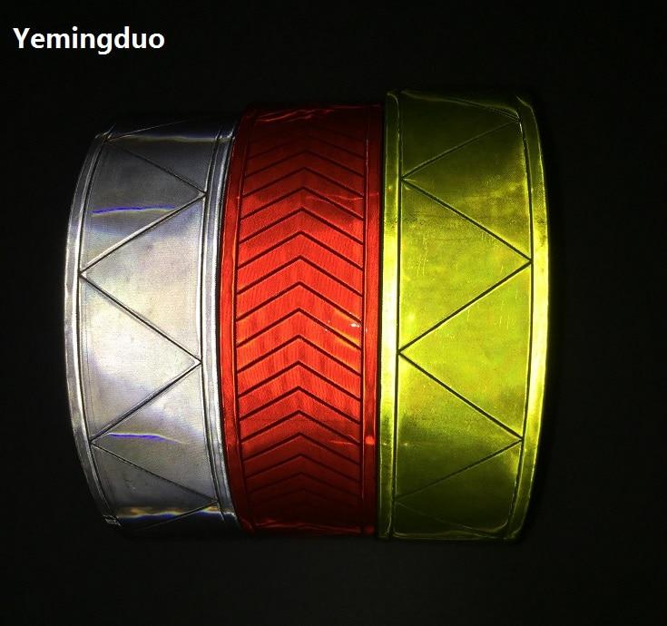 5CM*50M Fluorescent Reflective Warning PVC Strip