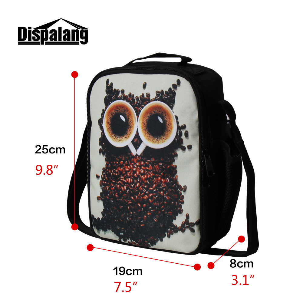 New Portable Thermal Lunch Bag For Students White Horse Animal Printing Picnic Food Cooler Bags Kids Small Lunch Box For School