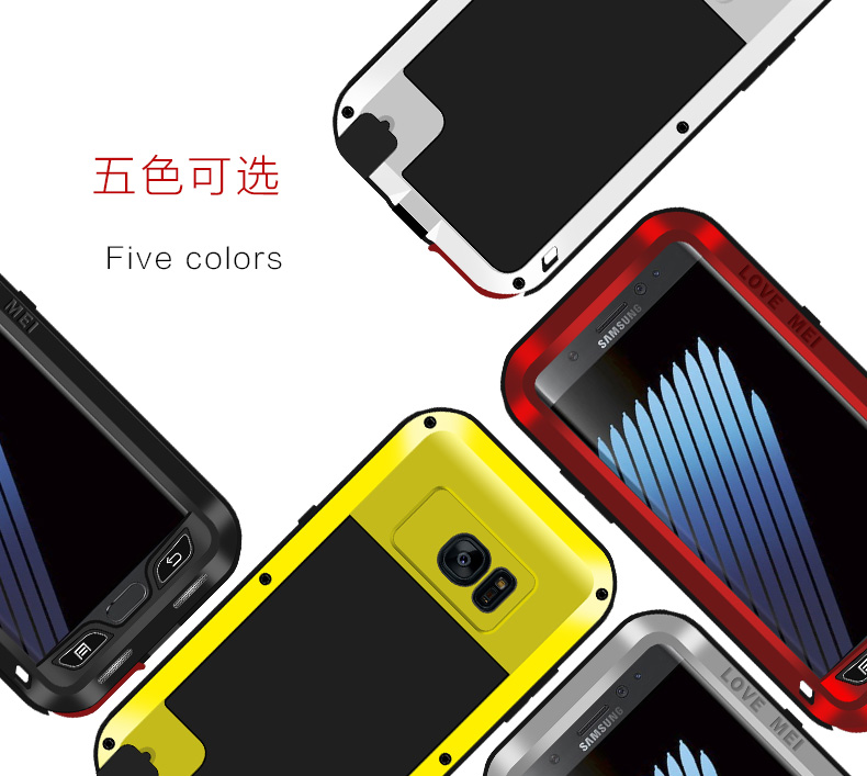 for Samsung galaxy note 7 Love Mei Shockproof Metal Aluminum Case Cover For Samsung Galaxy Note 7 Three proofing love mei phone