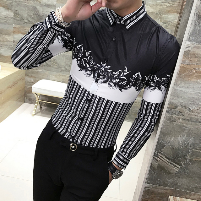 Men Shirt long sleeve stylish Print