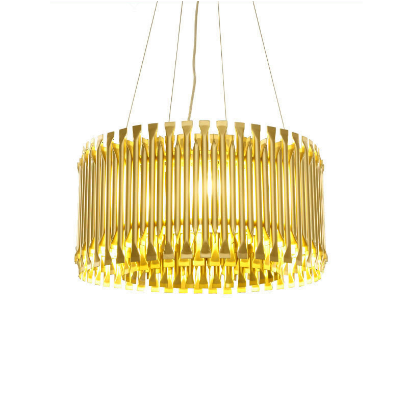 Modern LED Pendant light Kung gold color G9 lamp Aluminum Alloy Tube Contemporary Suspension Luminaire Project hanglamp