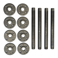 Free Shipping 4PCS 10 Inches Industrial Pipe Furniture Legs Metal Perfect For Coffee Tables Metal Table