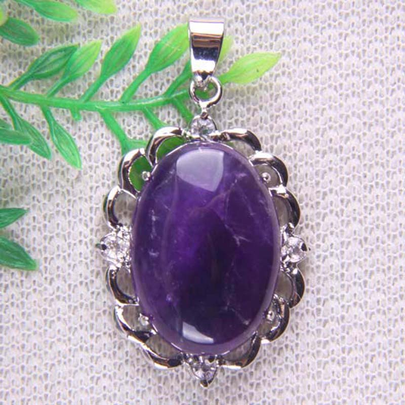 Purple Crystal Bead Pendant Jewelry For Gift S150