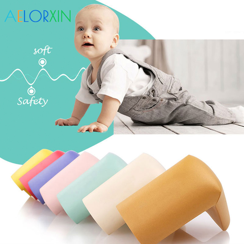 8Pcs/lot 55*55mm Children Protection Corner Soft Table Desk Children Safety Corner Baby Safety Edge Guards ...