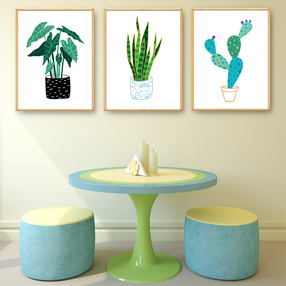 tropical home decor items nordic abstract cactus tropical plants art canvas poster modern  tropical plants art canvas poster