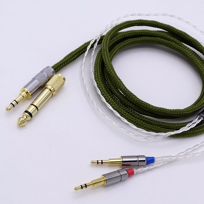 2.5M 4 cores 5N OCC Silver Plated HiFi Cable Headphone Upgrade Cable for Hifman HE1000 HE400S He400i HE-X HE560 Oppo PM-1 PM-2