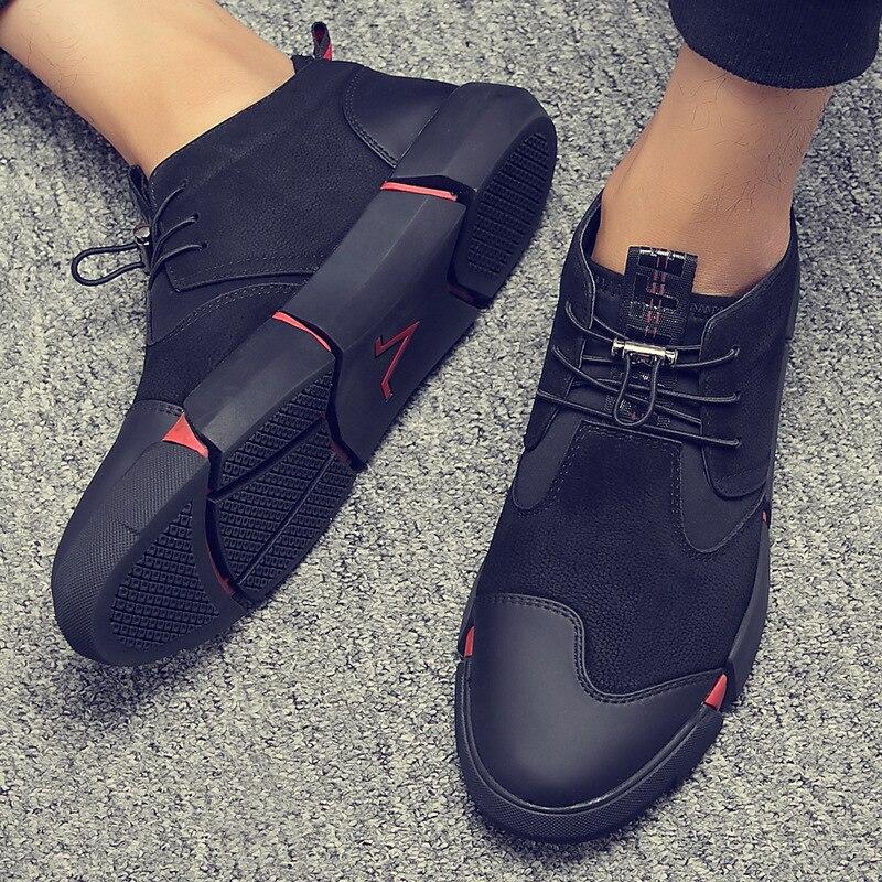 Casual Tamanho Pria Sapatos Homens Sepatu resistant Pu 2018 45 37 Couro Wear De Masculino Preto Outono Respirável Sexo Para O Fresco Moda qHUEv