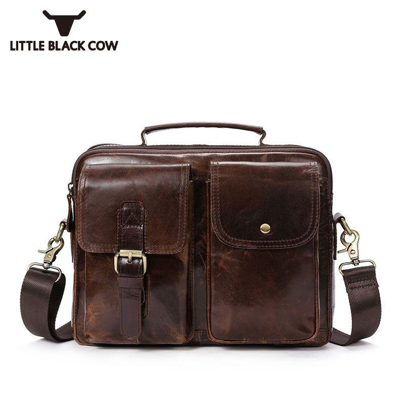 Mens Genuine Leather Satchel School Bag British Retro Buckle Pockets Business Male Work Handbag Messenger Sling Shoulder Bags футболка wearcraft premium slim fit printio sf ur