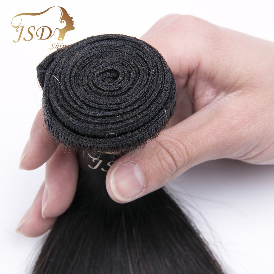 JSDShine Ombre 4 Bundles 3 Tone 1B 4 27 Peruvian Straight Human Hair Weave Pre-Colored Ombre Human Hair Extensions Double Weft