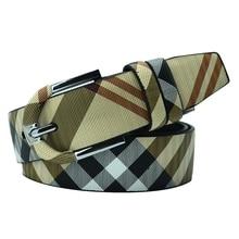 купить 3.3 Fashion men's belt pin buckle strips with microfiber scratch-resistant belt Unisex pin buckle belt harajuku belts for women по цене 747.71 рублей