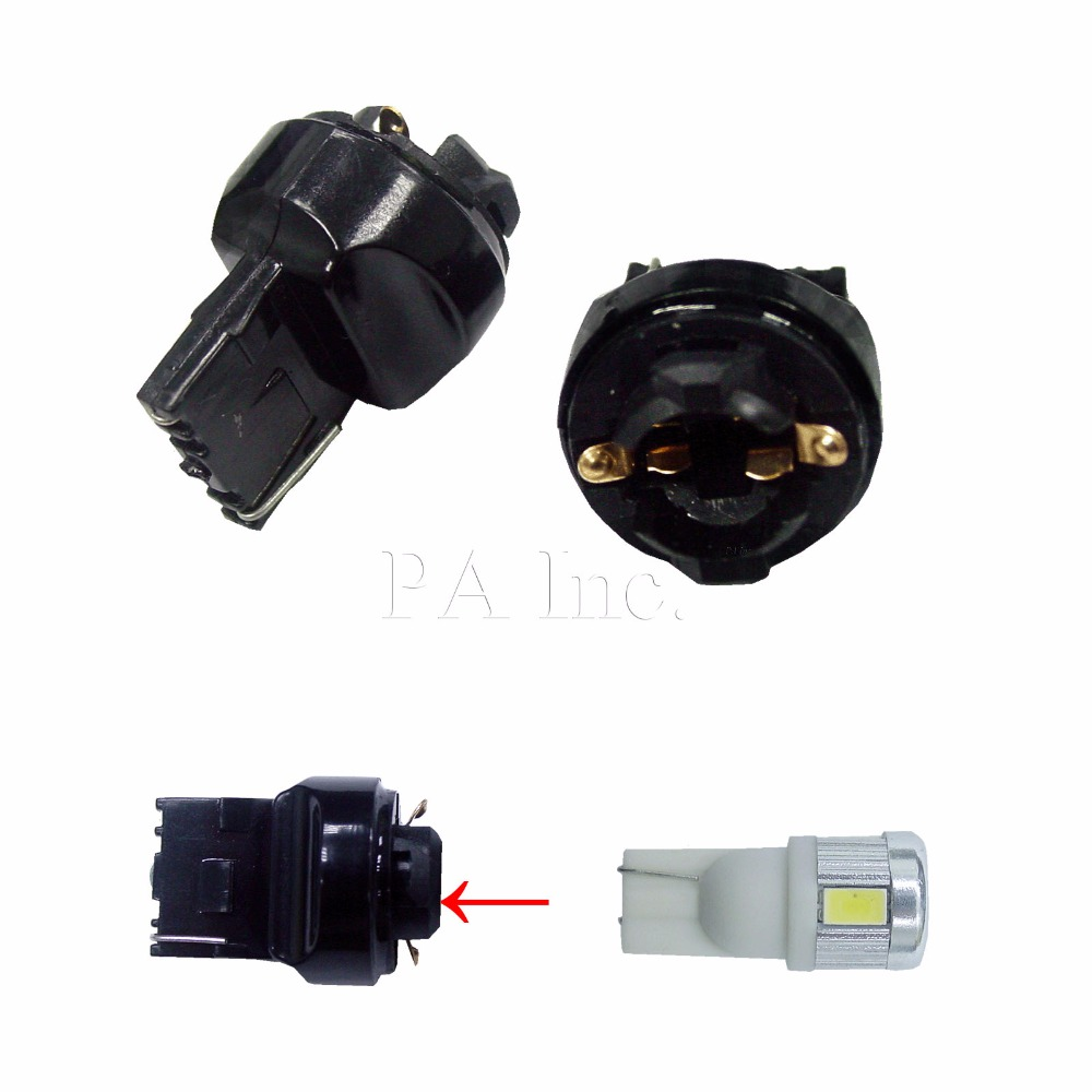 PA <font><b>LED</b></font> 2PCS x T10 194 to <font><b>T20</b></font>(7440) Transformer <font><b>Bulb</b></font> Socket Base image