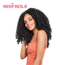 Miss Rola Soft Dread Lock Hair 1B# 15roots/pack 13.5 inch Kanekalon Low Temperature 75g Synthetic Curly Crochet Braids Hair(China)