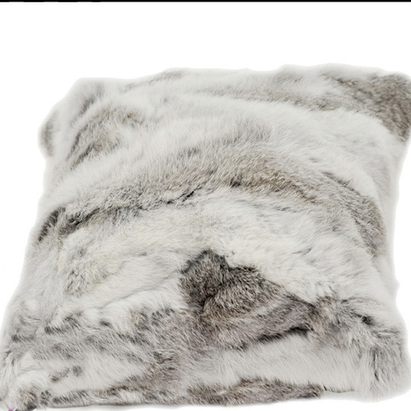 free shipping realrabbit fur cushion cover fur pillow cover almofadas pillow covers decorative pillows capa de