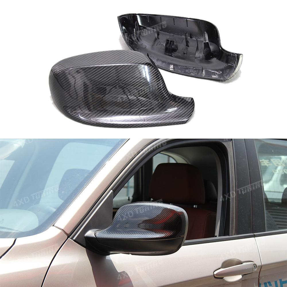 1:1 Replacement Style For BMW X1 E84 & X3 F25 Carbon Fiber Rear Side View Mirror Cover E84 F25 Mirror cover 2010 2011 2012 2013 mercury f25 el efi
