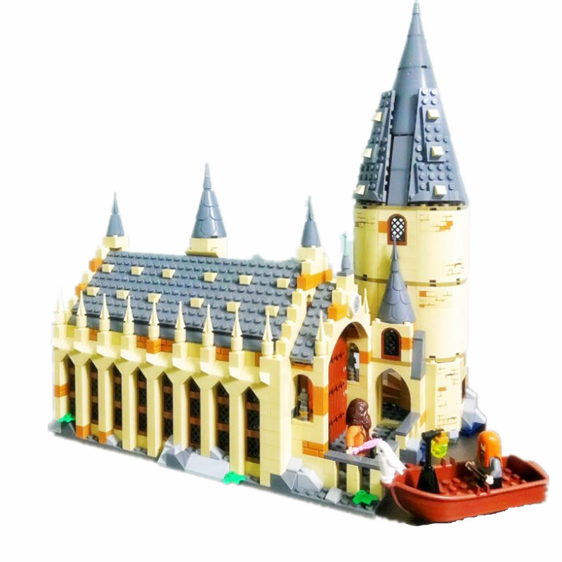 Harri Potter Serices Hogwarts Great Hall Compatibility Legoing 75954 Building Blocks Bricks Toys Gift Christmas