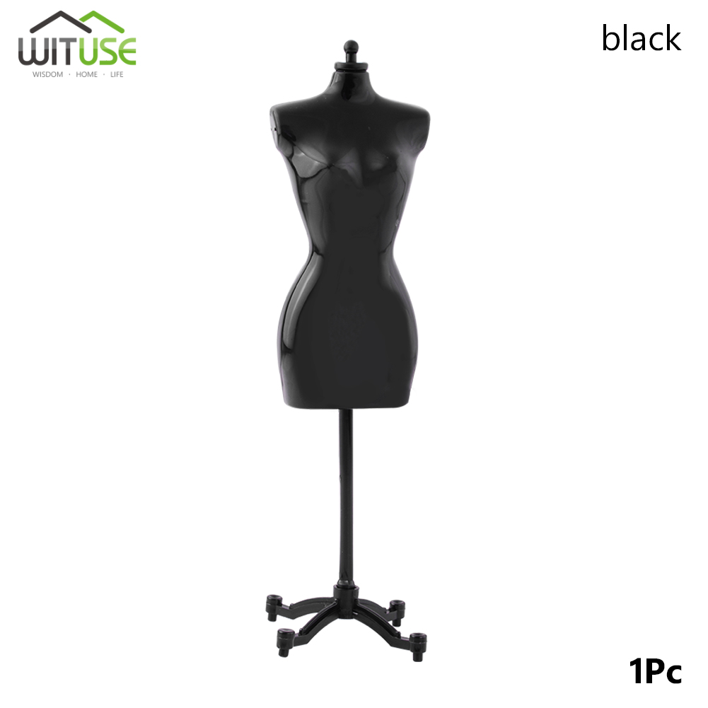 1PCS Black Display Holder Dress Clothes Gown Mannequin Model Stand For Doll Plastic Dolls Stands