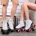 Japy Skate F1 Double Roller Skates Men's 4 Wheels Skates Two Line Roller Skate Patines Patins Adulto Black Adult Skate Shoes