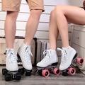Japy f1 double patines de 4 ruedas de skate patines dos Línea Del Patín de ruedas Patines Patins Adulto Negro zapatillas de Skate Para Adultos zapatos