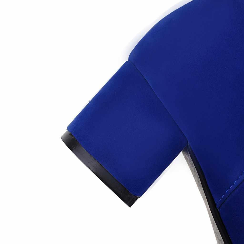 Kadın Botları Akın Kalın Topuk yarım çizmeler Moda Fermuar Yuvarlak Ayak Bahar Sonbahar Kadın Ayakkabı 2018 Siyah Mavi Haki