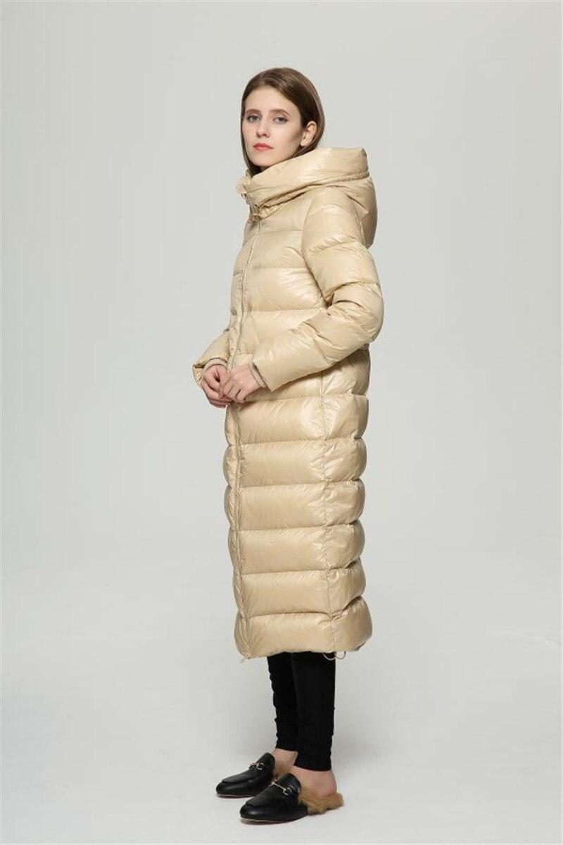 beige Vers Slim Femmes Bas Manteaux Le Wxf140 Haute Qualité Canard Vestes Veste Blanc Black Longue Ayunsue Noir Pour Manteau Casual Chaud Duvet D'hiver De wInqAgwS