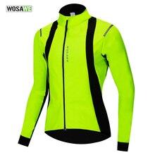 WOSAWE Мужская Зимняя Теплая Флисовая ветрозащитная велосипедная куртка MTB велосипедная ветровка водонепроницаемая Спортивная одежда