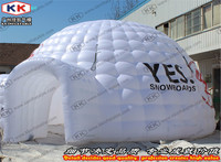 White Or Colored Inflatable Exhibition Dome Tent With Gate Tunnel