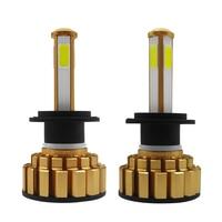 canbus שגיאה חינם 2pcs H7 H11 H8 H9 9005 9006 H4 LED רכב נורות 80W מוארת פנס מנורה CANbus שגיאה חינם מפענח 4-צדי אורות ערפל אוטומטי זוהר (2)