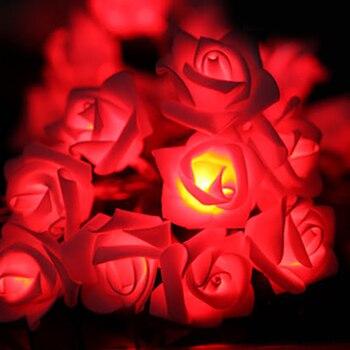 Zonyee Rose Led String Lights Events&Parties 1.2M 10LED Guirlande Lumineuse Garden Christmas Decoration Ball String Lamps vasos sanitários coloridos