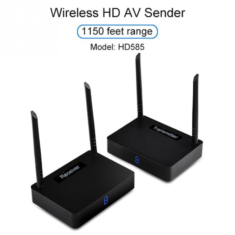 5.8GHz 350M Wireless HDMI Transmitter Sender Receiver Audio Box TV Sender HDMI 1080P 60fps Dual-antenna Design цена и фото