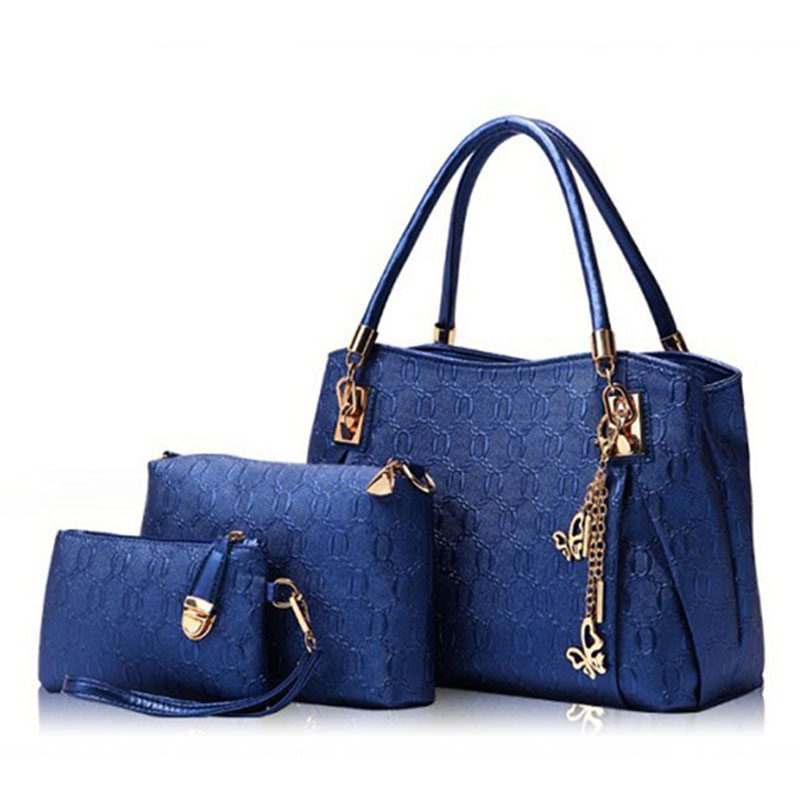 New 2017 Women Bags Set Leather Handbag Women Casual Travel Bags Ladies Brand Designer Bag