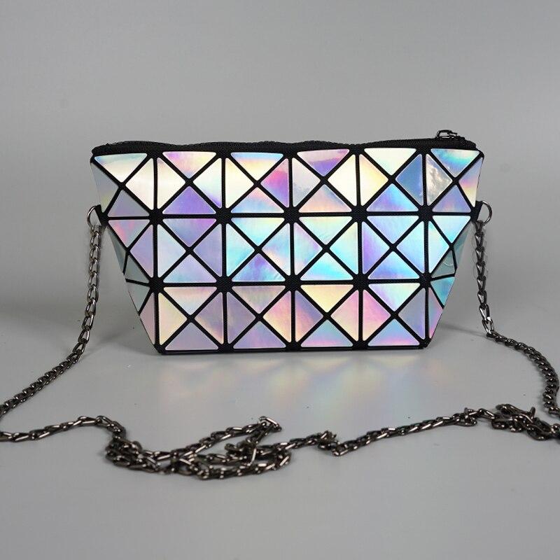 4c42b3e9b08 aliwood Brand Laser Chain Women Shoulder Messenger bag Clutch Diamond  Lattice Geometry Holographic Female Crossbody Bag Handbags | Fancy Bag Lady