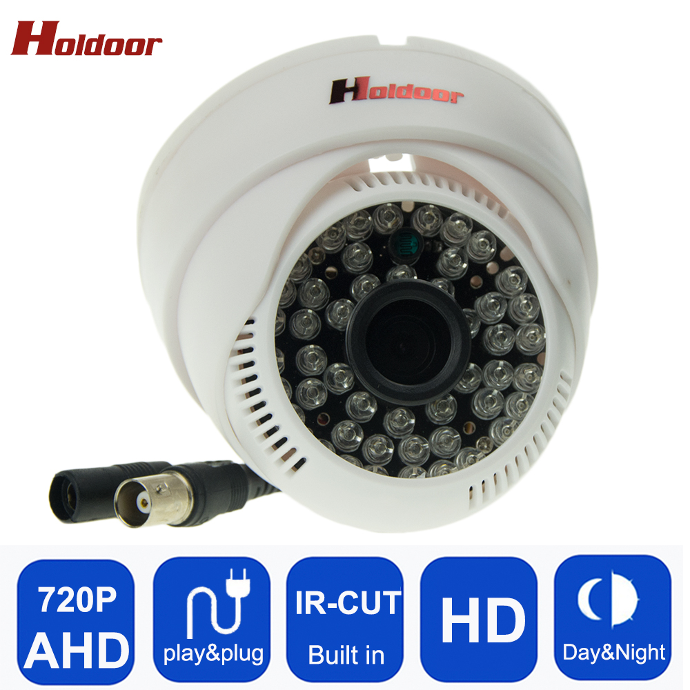 Ahd 720p Cmos Dome Camera 48pcs Infrared Lights Home Security Surveillance Cctv Cam Night Vision Plug and Play Freeshipping Hot new home 2mp hd ahd 1080p camera security cctv white dome 2pcs array infrared night vision surveillance camera ahd h system