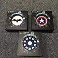 Super Cool Batman Capitán América Shield luces cargador de viaje banco de la energía 13000 mAh batería externa Para IOS Android Móviles
