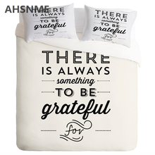 AHSNME white minimalist English letters TOBO 3Pcs Bedding set United States Twin Full Queen King No Fading pilling