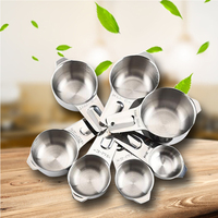 304 stainless steel 7 pieces Baking Cup Measuring Spoon / 240ml Kitchen Gadget with Scale Spoon Kitchen Tools