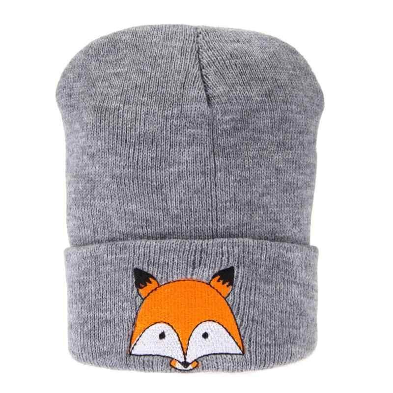 แฟชั่นเด็กหมวกเด็กฤดูหนาวฤดูหนาว Fox ถัก CapBaby หมวกสำหรับหมวกเด็กหมวกที่อบอุ่นถักหมวกเด็ก