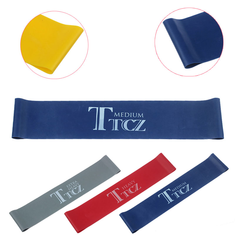 TTCZ Yoga Pilates Exercise Loop Resistance Rubber Bands Resistance Fitness Stretch Loop rope Crossfit Band for bodybuilding 8 type elastic tension rope gym fitness sport rubber loop pull rope exercise stretch belt pilates yoga belt random color