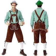German traditional Green Oktoberfest couple costumes European and American bar overalls Alpine adult women