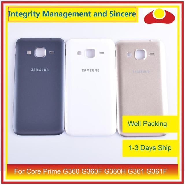 50 unids/lote para Samsung Galaxy Grand Prime G530 G530H G530F G531 G531F vivienda puerta de la batería tapa trasera caso chasis de