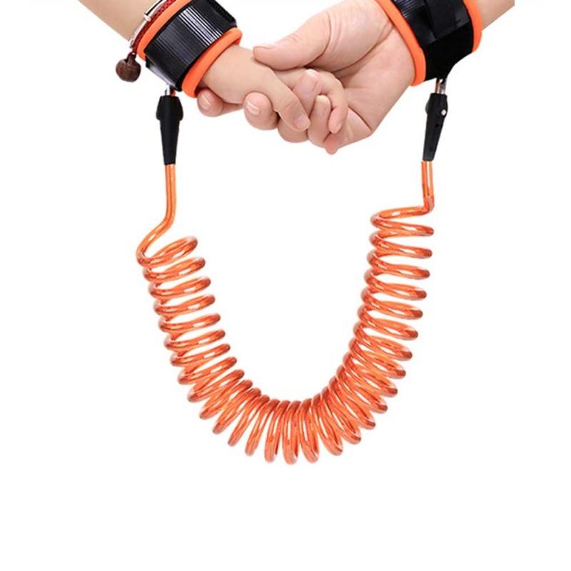 Enfants réglables harnais de sécurité enfant laisse de poignet anti-perdu lien enfants ceinture assistant de marche bébé Walker bracelet 1.5 / 2 / 2.5m