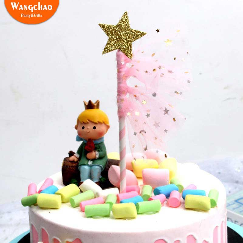 Excellent Glitter Star Organza Flag Cupcake Topper Kids Favor Happy Birthday Birthday Cards Printable Giouspongecafe Filternl