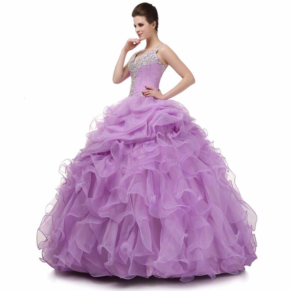 En stock organza ruffled barato nueva coral quinceanera vestidos ...
