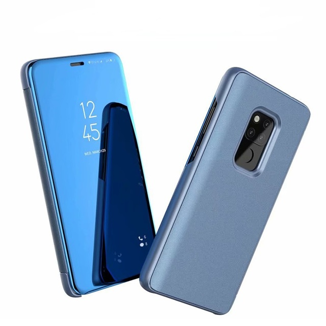 brand new d8fe4 ba2e9 US $319.0 |Premium Clear View Mirror Smart Case For Huawei Mate 20 Pro  Magnetic Leather Flip Case For Huawei Mate 20 Lite Cover-in Wallet Cases  from ...