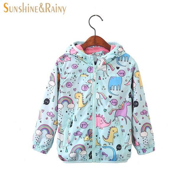 304007986 Sunshine   Rainy 2018 Spring Kids Unicorn Jacket For Girls Dinosaur ...